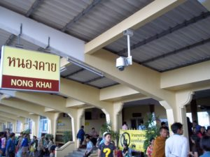 Arrival at Nong Khai train station