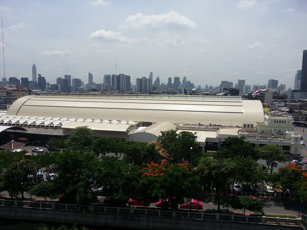 Bangkok train station is a mix of new and old