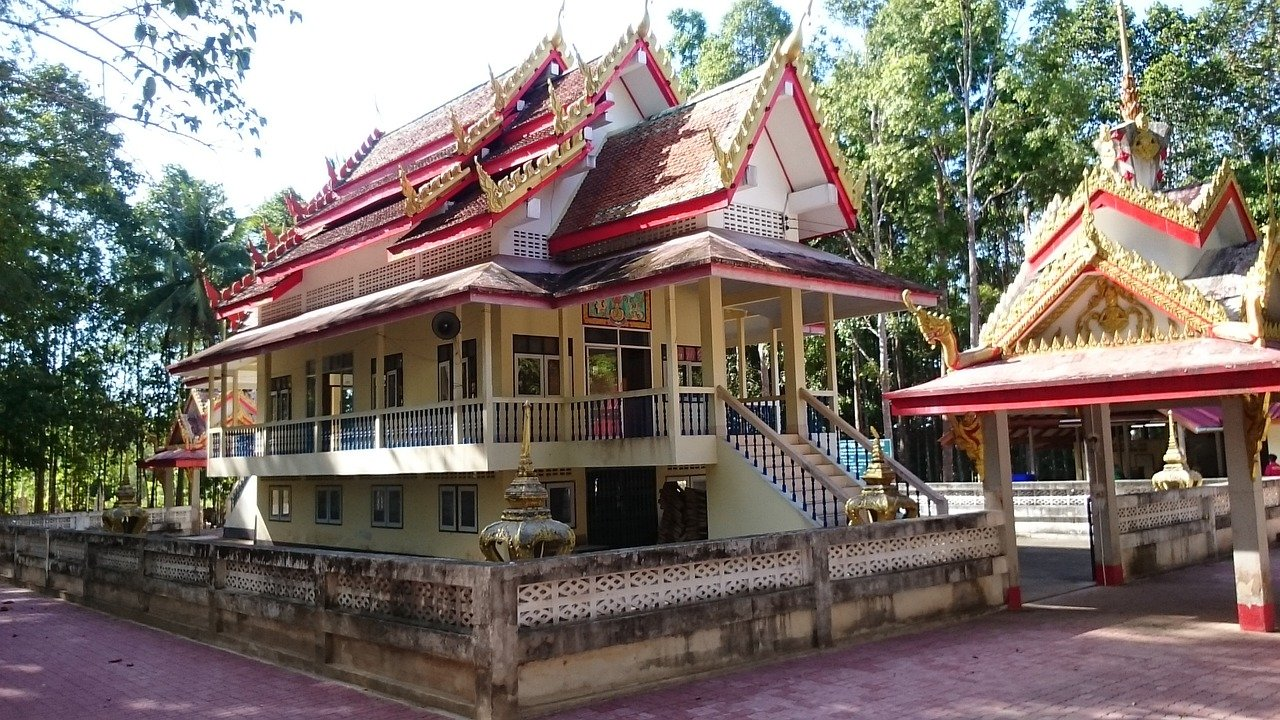 Southern Thai Style Temple in Chumphon