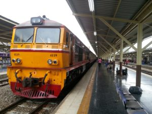 Train #83 to Surat Thani at Bangkok Train Station