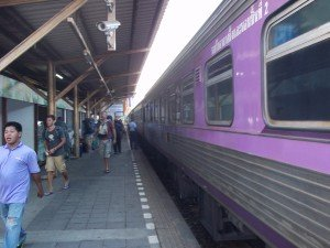 Arrival at Surat Thani train station