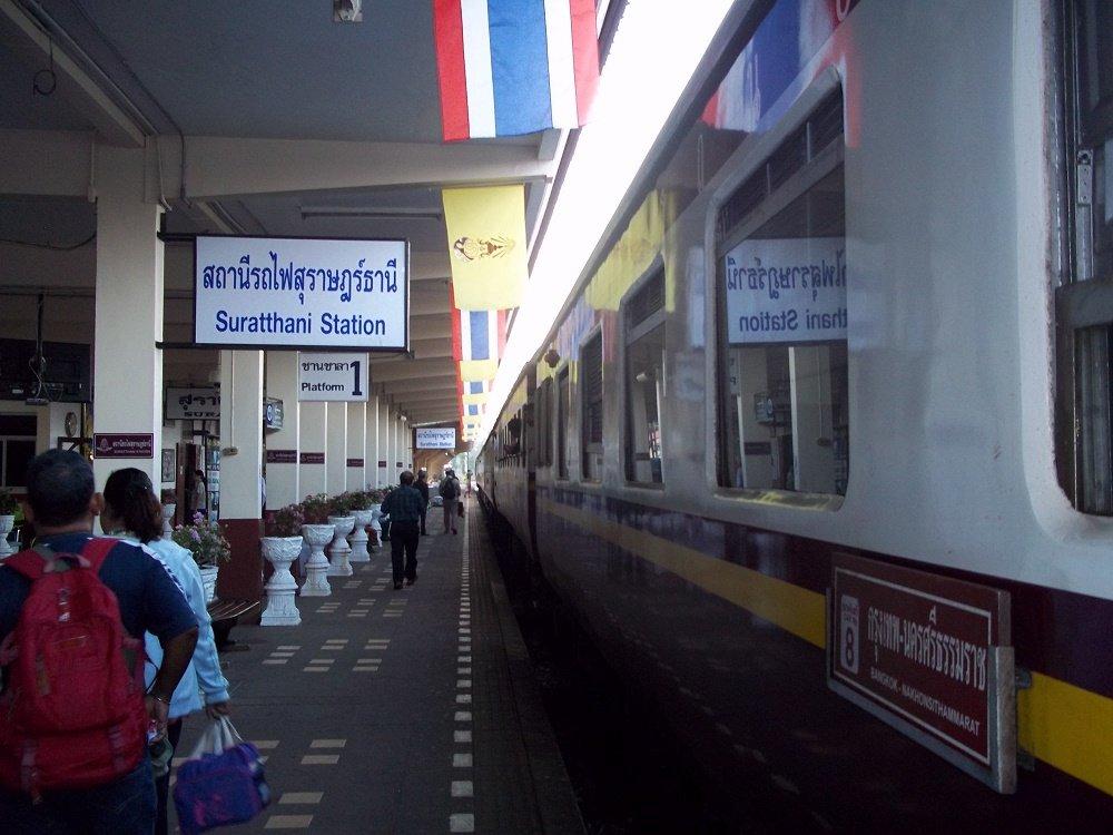 Train travel from Surat Thani train station