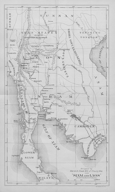 Old Map of Siam