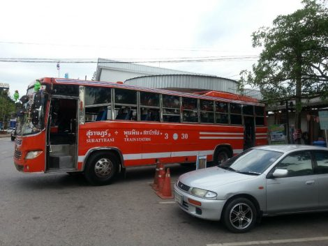 Orange bus to Surat Thani town