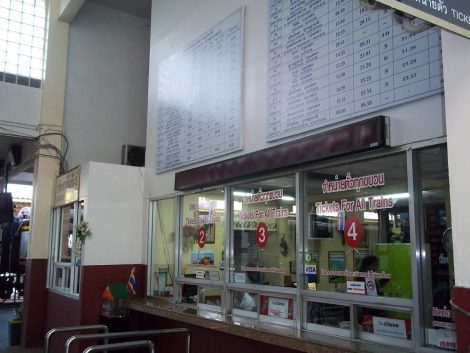 Ticket Counters at Surat Thani train Station