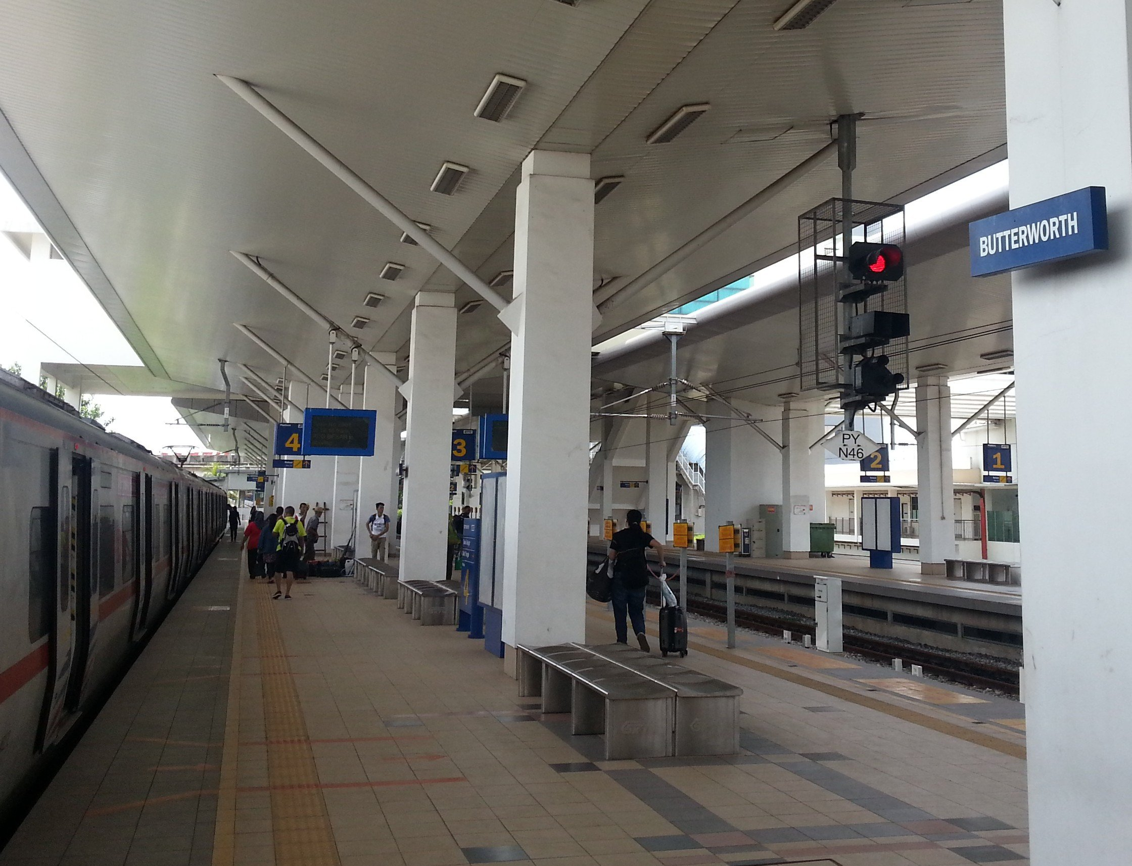 Arrival at Butterworth Train Station