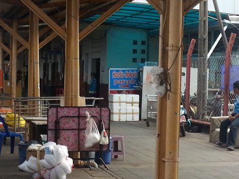 Cargo office at Surat Thani train station