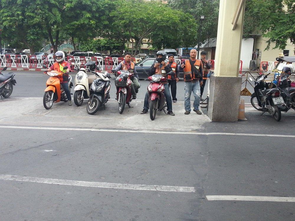 Motorbike Taxis at Bangkok Train Station