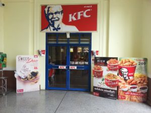 There is a branch of KFC at Bangkok Train Station