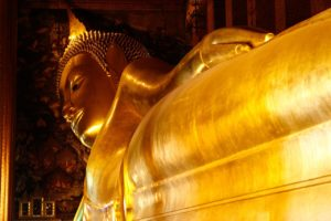 The Reclining Buddha at Wat Po Temple in Bangkok