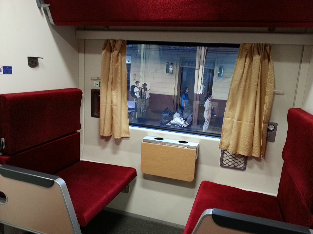 2nd class air-conditioned seats on Thailand's new trains