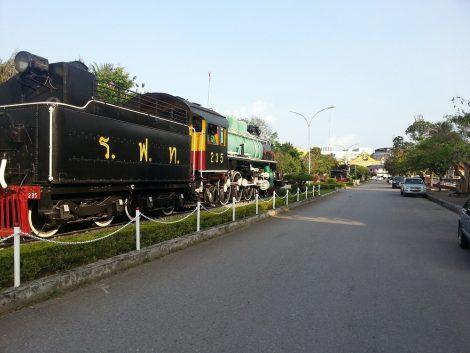 Steam engines at Chumphon Train Station