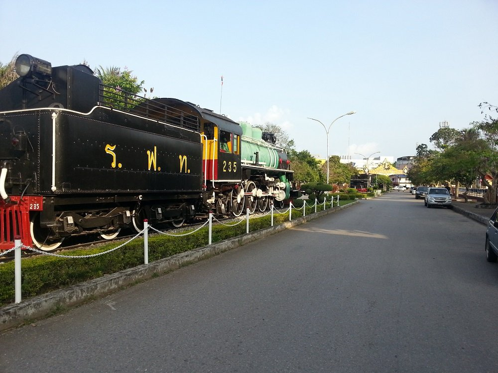 Steam engines at Chumphon Train Station