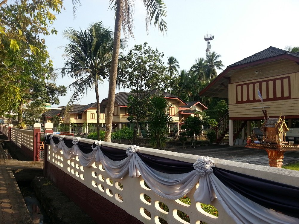 Railway staff houses at Chumphon Train Station