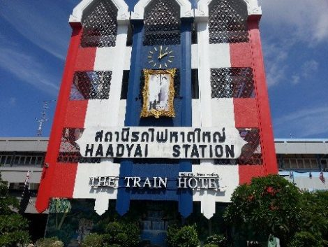 Hat Yai train station is in the city centre