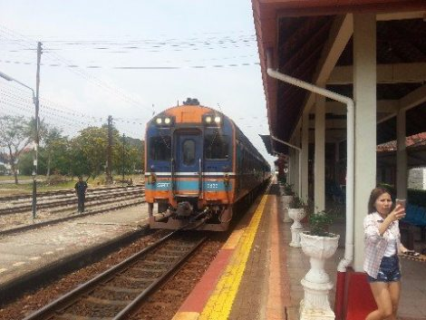 Train #40 at Prachuap Khiri Khan Station