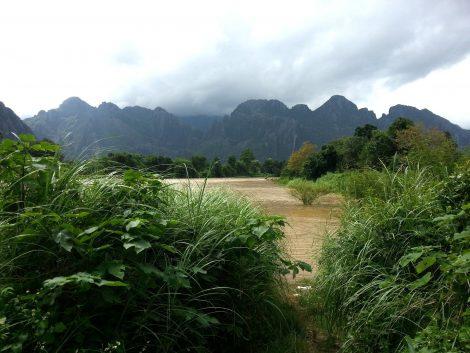 Riverside in Vang Vieng