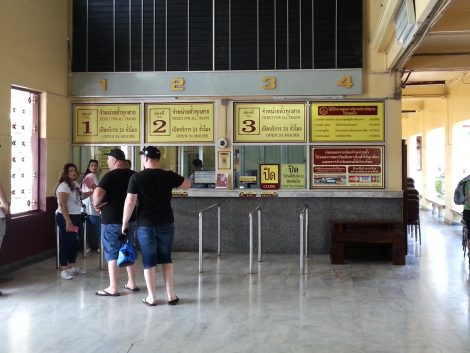 Ticket Counters at Nakhon Ratchasima Train Station
