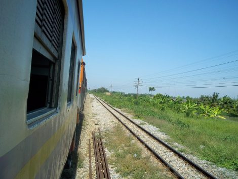 Train from Kanchanaburi to Bangkok