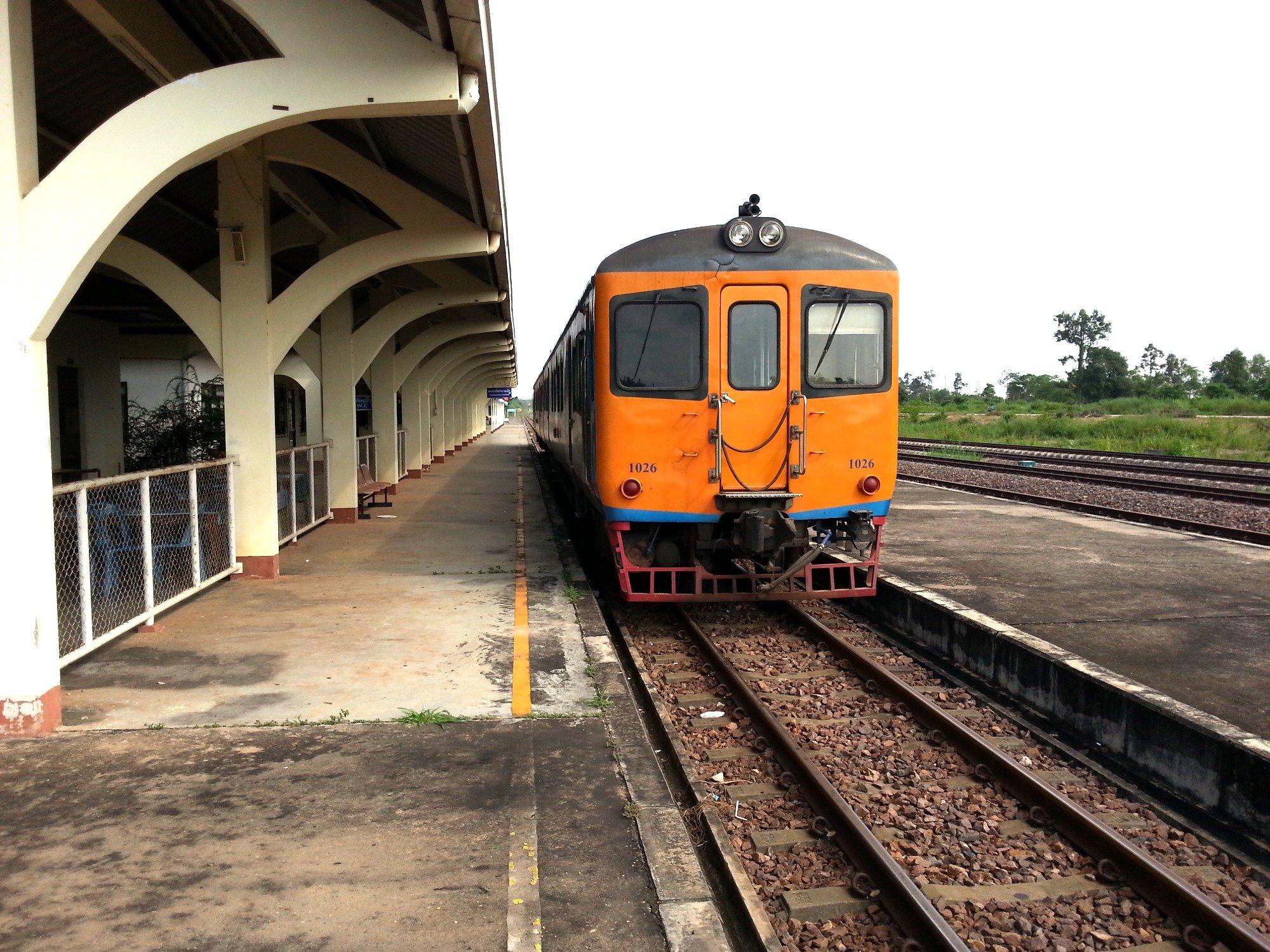 Train to Nong Khai at Thanaleng Railway Station