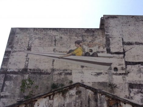 Wall mural in Ipoh