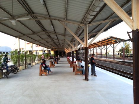 Platforms at Udon Thani Train Station