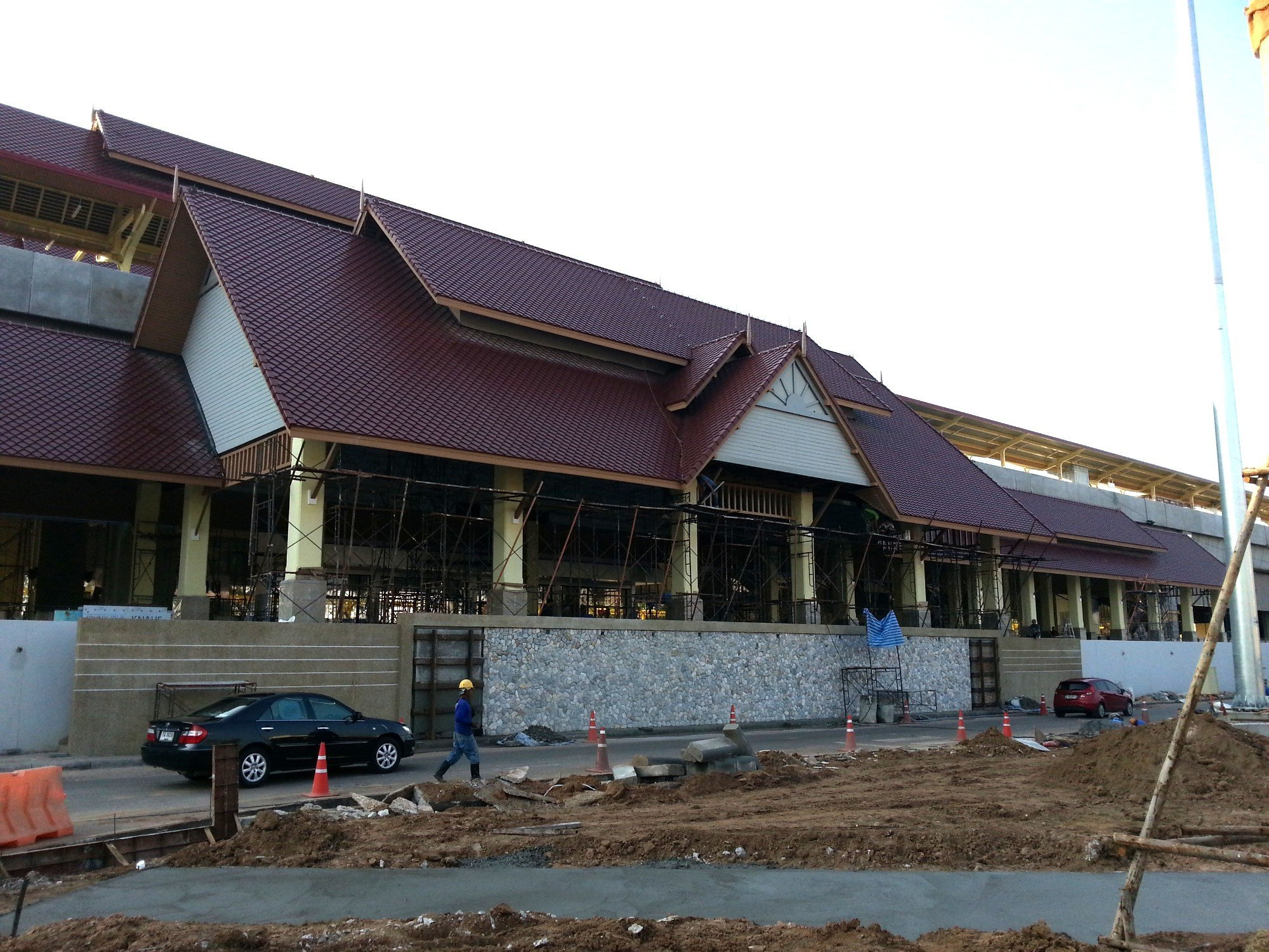 Khon Kaen Railway Station under construction