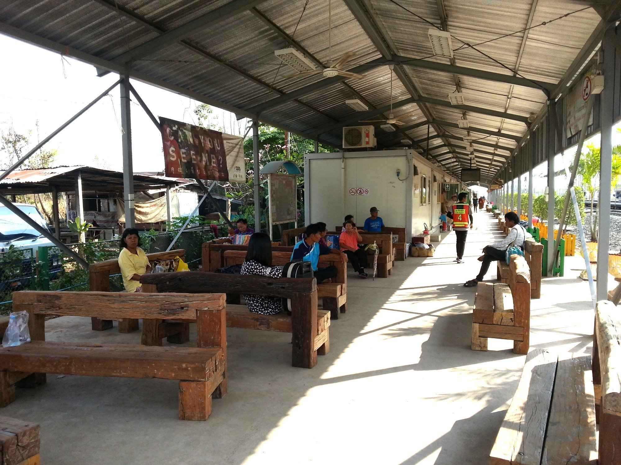 Waiting area at Khon Kaen Temporary Railway Station
