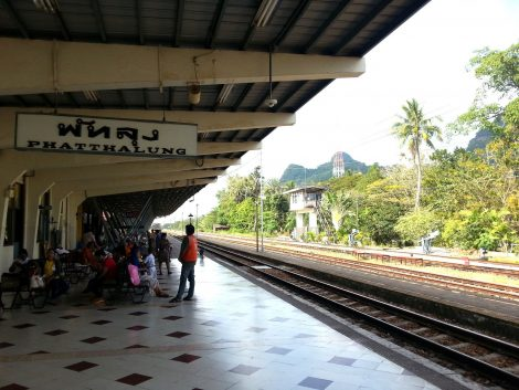 Platform 1 at Phatthalung Railway Station