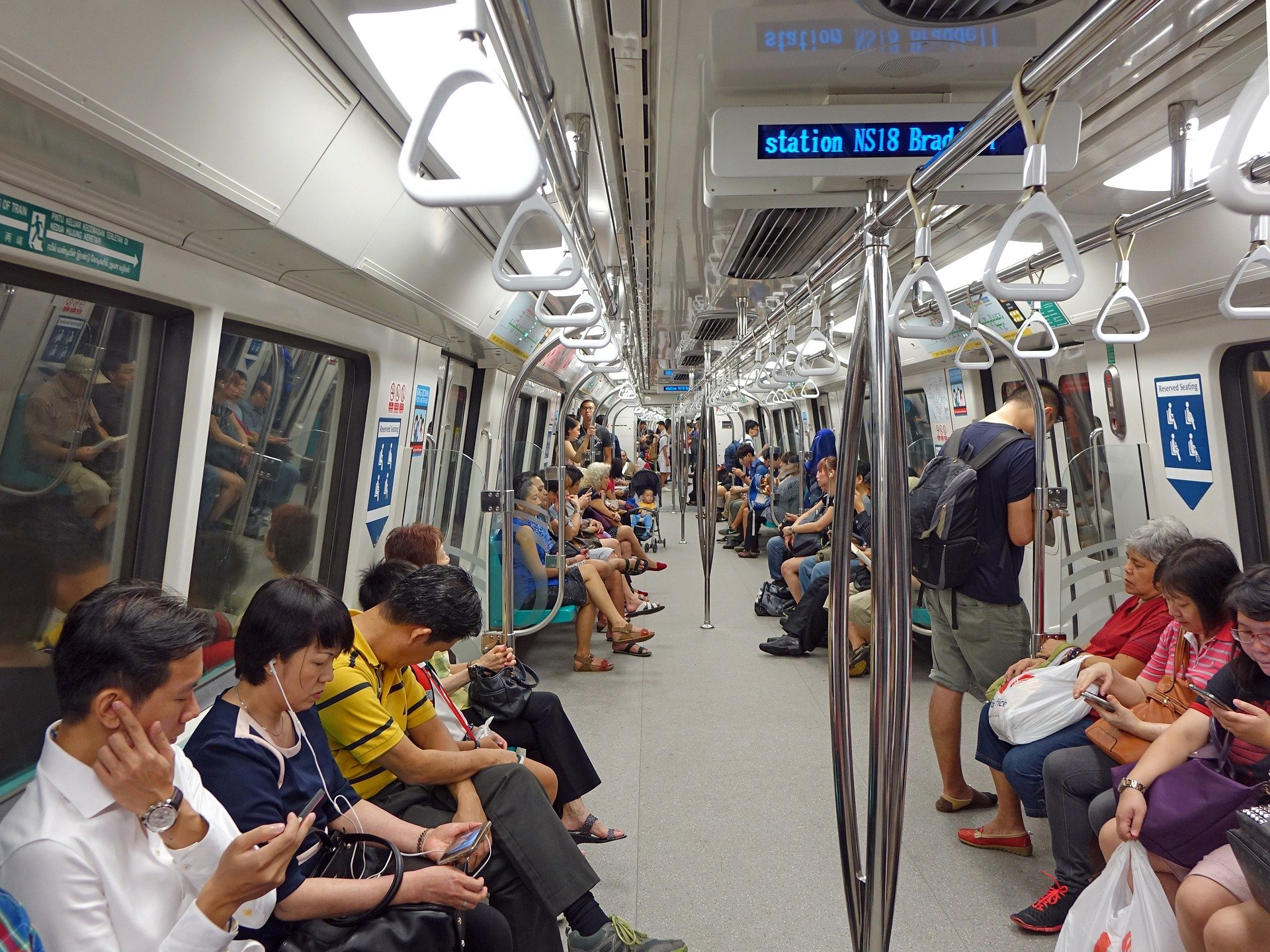 MRT train carriage in Singapore