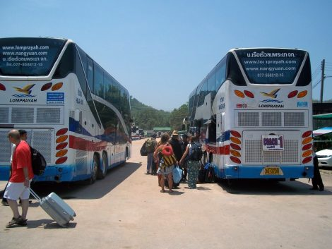 Bus to Chumphon Railway Station