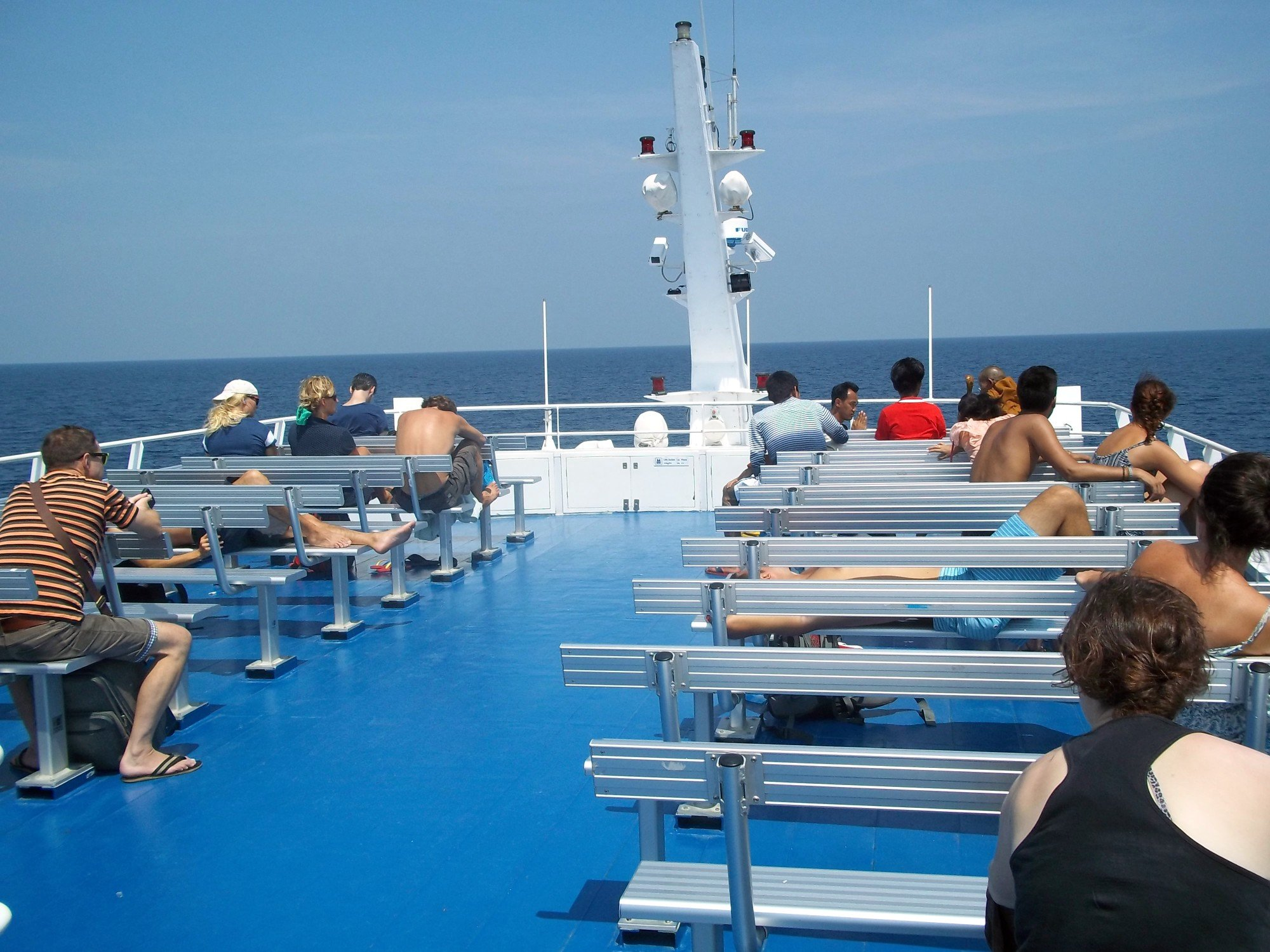 Top deck of the Lomprayah High Speed Ferry