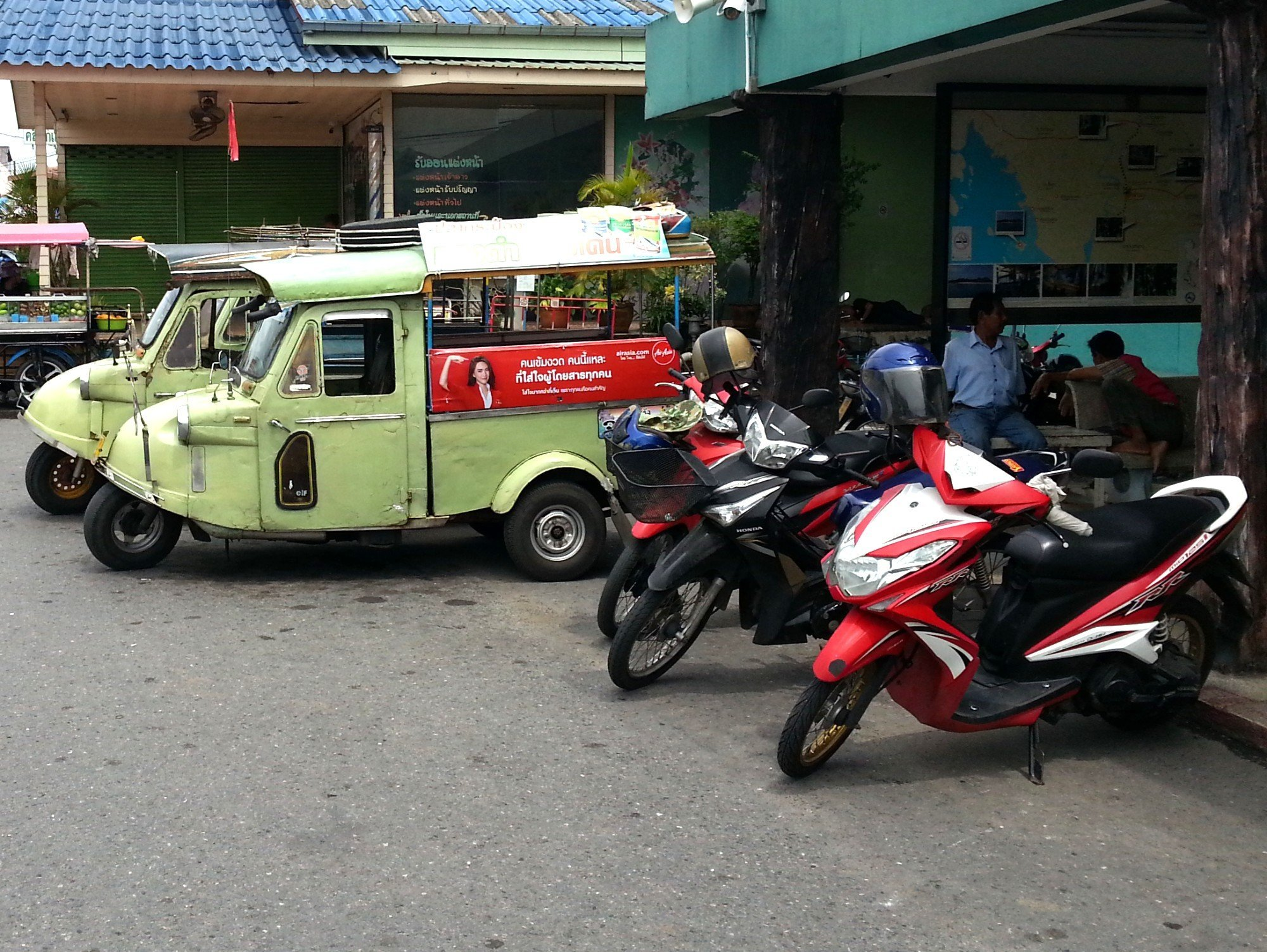 Local transport at Trang Railway Station