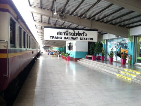 Platform 1 at Trang Railway Station