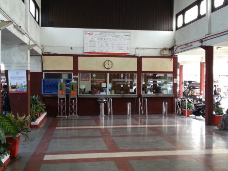 Ticket counters at Nakhon Si Thammarat Railway Station