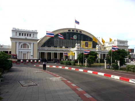 Hua Lamphong is the main railway station in Bangkok
