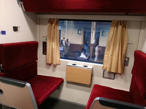 2nd Class air-conditioned carriage in Thailand