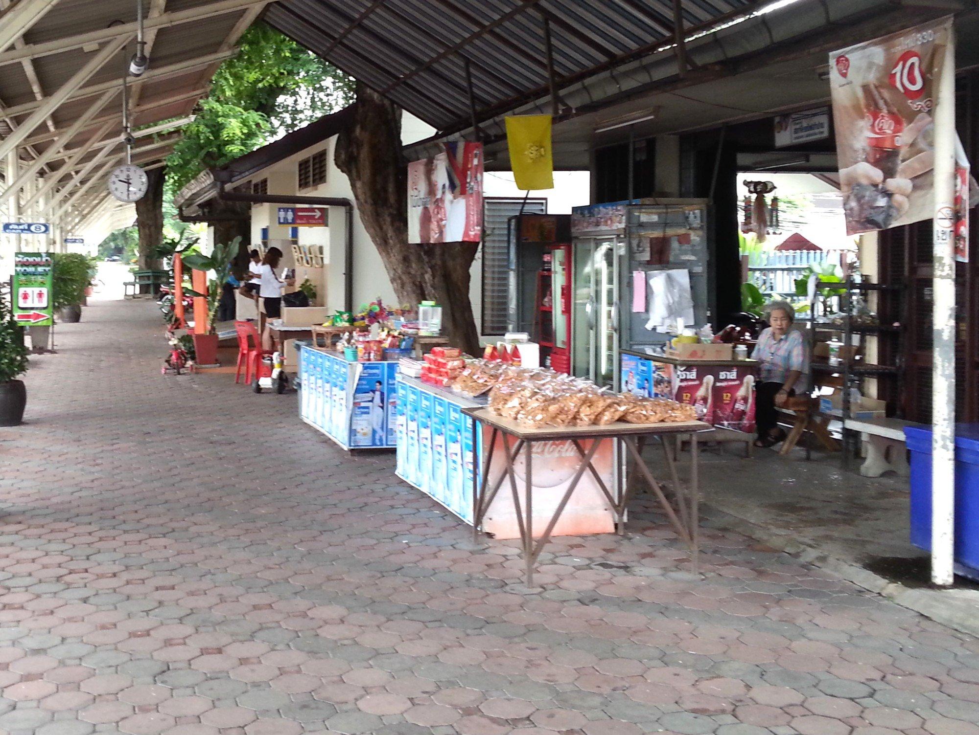 Shop on the platform at Lampang Railway Station
