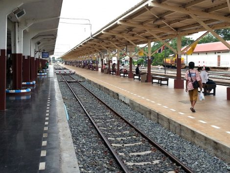 Train platforms at Phitsanulok Railway Station