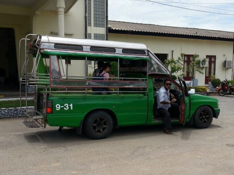 Local transport at Nakhon Sawan Railway Station