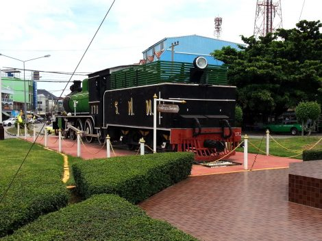 Steam locomotive at Nakhon Sawan Railway Station