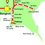 Thailand Railway Map Eastern Line