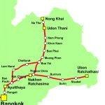 Thailand Railway Map North Eastern Line