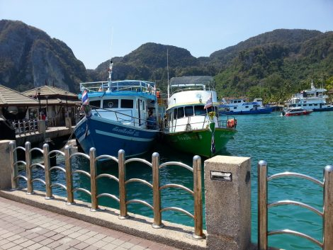 Arrival at Tonsai Pier in Koh Phi Phi