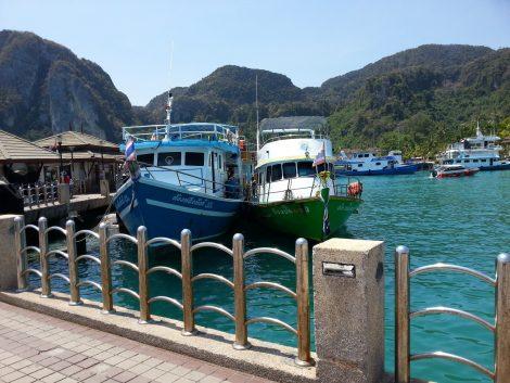 Arrival at Tonsai Pier in Koh Phi Phi