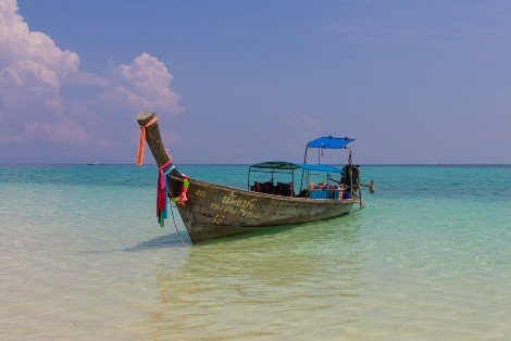 Travel by wooden boat from Koh Muk to Trang