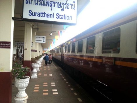 Platform 1 at Surat Thani Railway Station