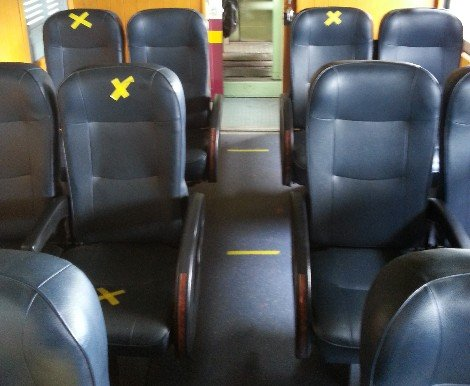 Seat spacing on Thailand Trains
