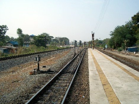Existing track on the line to Nong Khai