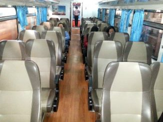 2nd Class AC Seat on a Thailand Train